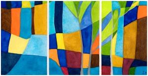 color hymn, 4 (el cañón y los árboles)