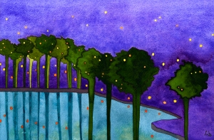 """la noche española"" © lisabette brinkman 2012 8""x11.5"" watercolor + gouache on arches cold pressed w/c paper"