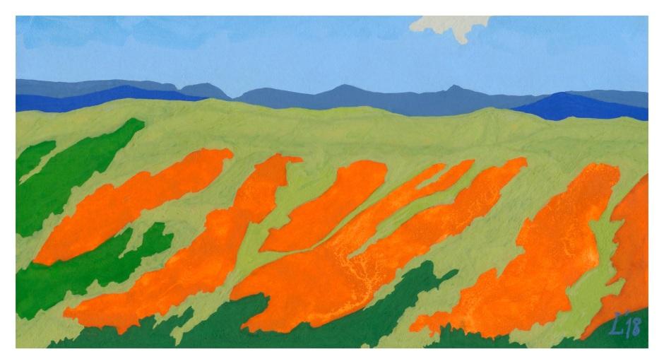 landscape sketch, arcos de la frontera, 6-10-18