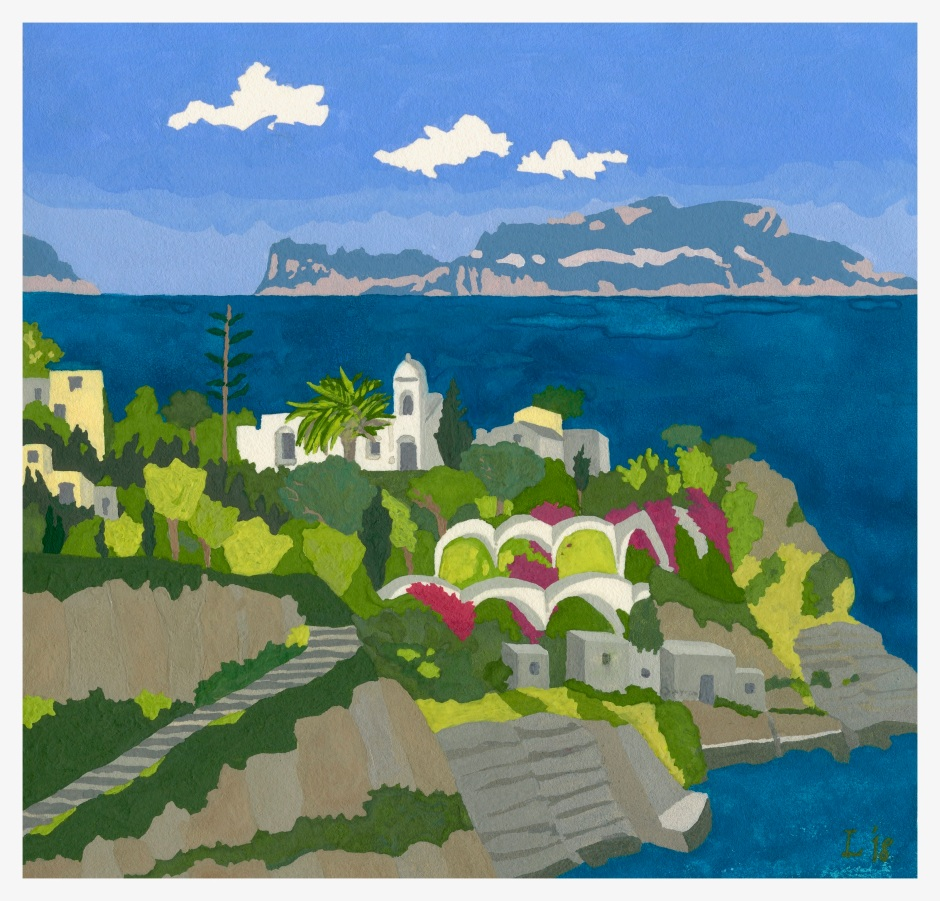 "Lisabette Brinkman, ""ischia, looking across at capri"""